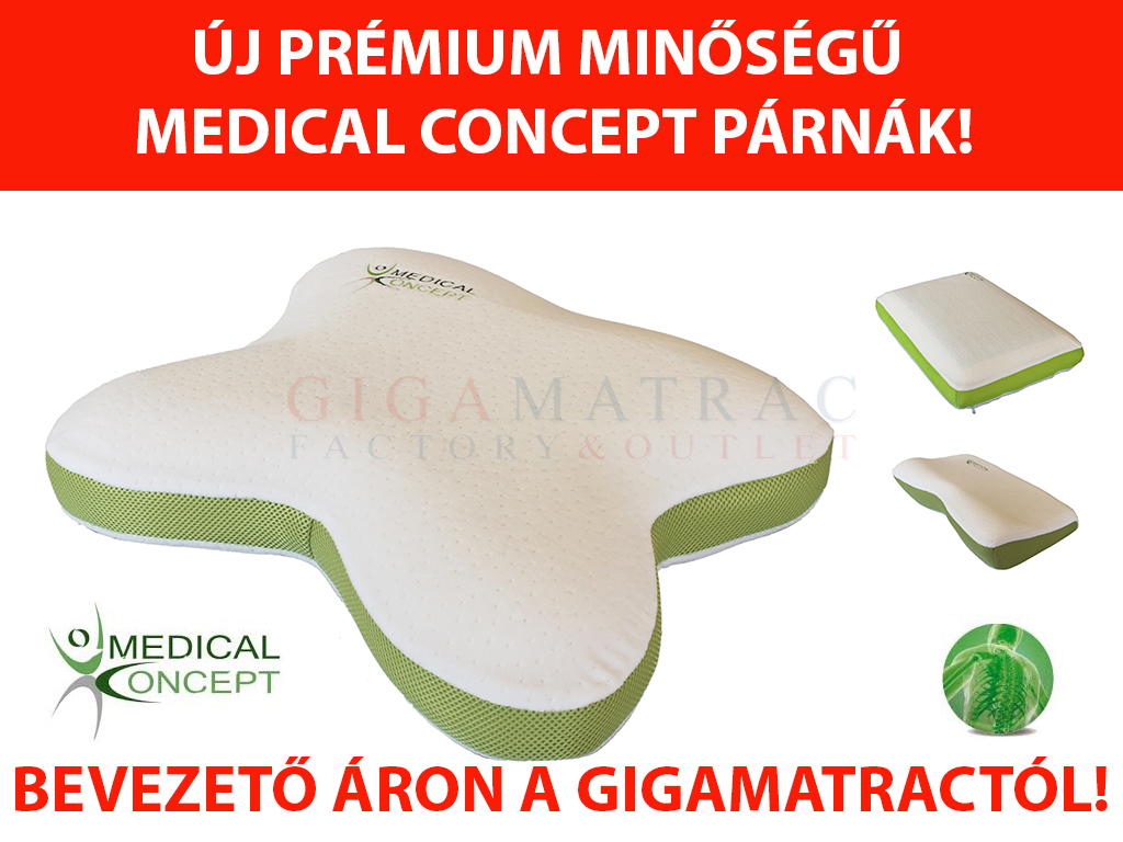 ... Medical Concept párna akció 2018 ősz Gumotex Platinum májusi hideghab  matrac ... 2e52f96b05