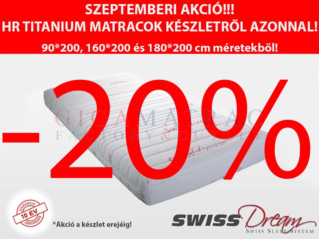 SwissDream HR Titanium matrac hideghab matrac akció