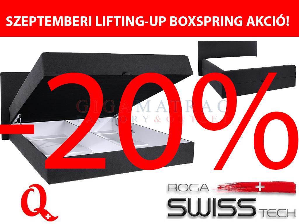 SwissTech ágyneműtartós boxspring ágy szeptemberi akció