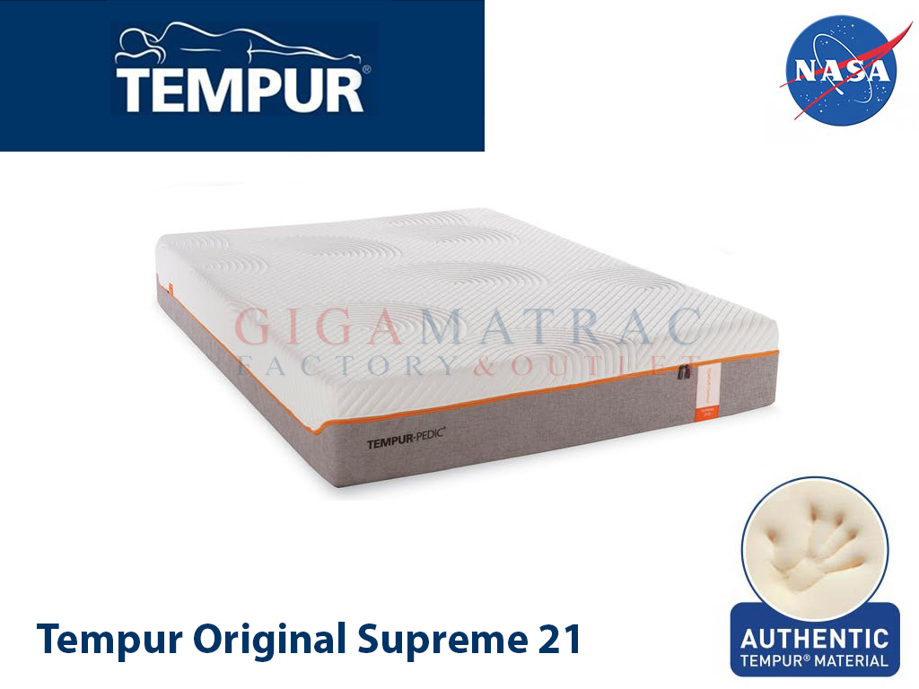 tempur original supreme 21 matrac gigamatrac factory. Black Bedroom Furniture Sets. Home Design Ideas