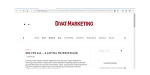 Divat és Marketing - ONE FOR ALL - A Levital matraccsalád - A teljes cikk itt olvasható