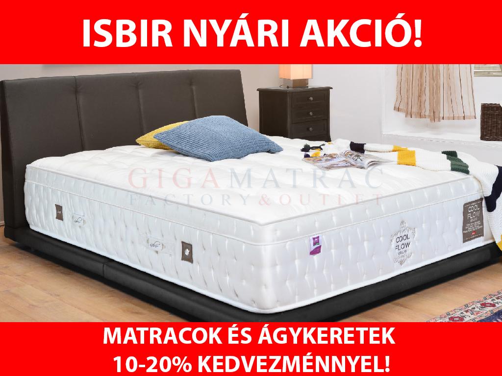 Isbir nyári matrac és ágykeret akció