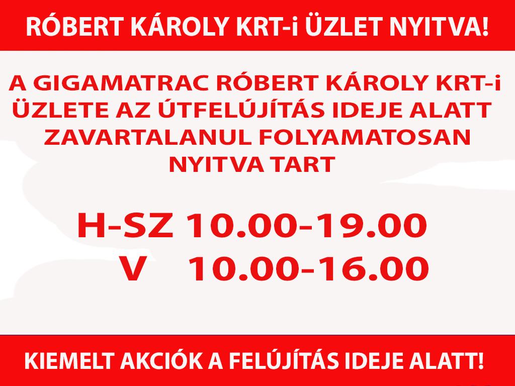 Robert Károly Körúti üzlet nyitva  a felújítások ideje alatt
