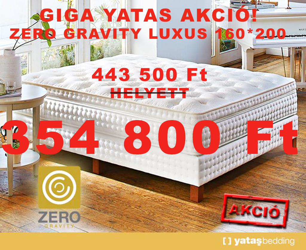 Yatas Zero Gravity októberi akció