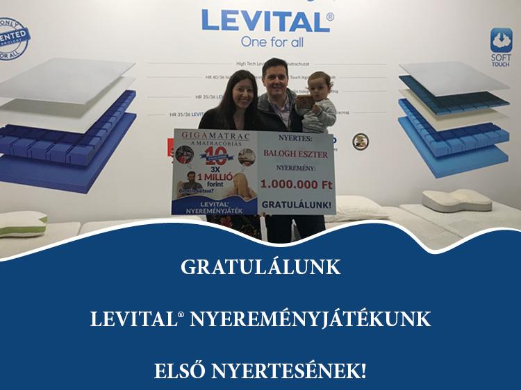 Levital nyereményjáték első nyertese